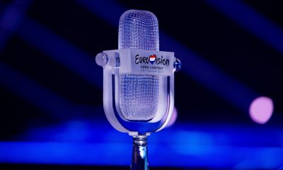 The trophy for the Eurovision Song Contest 2021.