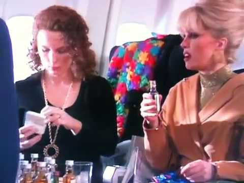 Eddie and Patsy flying to New York on the Concorde