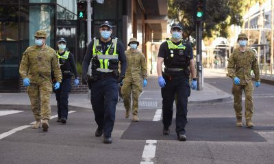 Police and army in Melbourne